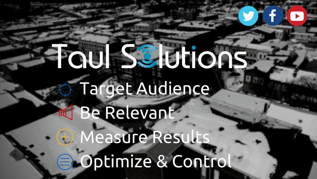 Target Audience Be Relevant Measure Results Optimize & Control Digital Marketing Agency Banner